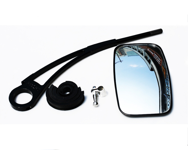 Reborn angle-free adjustable mirror arm glossy black