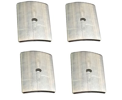 Curved reinforcing plate 3in x 6in (4pcs)
