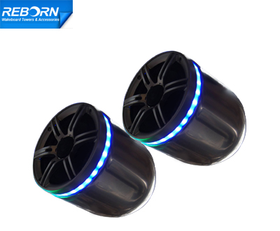 Reborn Wakeboard Speaker with LED Light Ring (in pair)