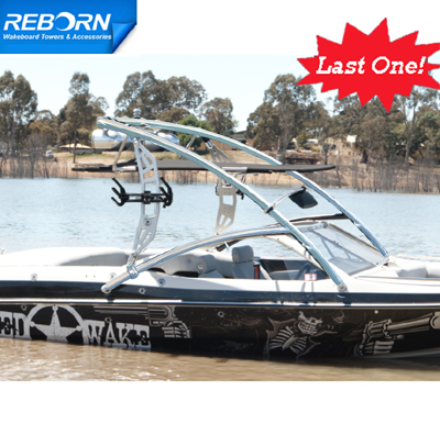 Tower Pkg Special! Reborn Propel Wakeboard Tower Polished + Pro tower bimini + ski rack