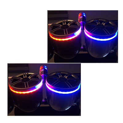 2 Pairs of Reborn twin wakeboard speaker with LED light ring